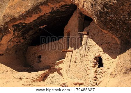 Ancient Mogollon Ruins at Gila Cliff Dwellings National Monument in the Gila Wilderness, New Mexico