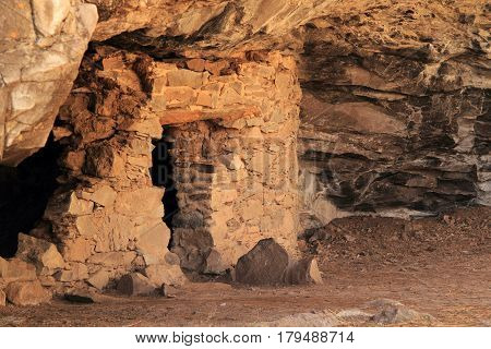 Lower Scorpion Campground Ruins, Gila Cliff Dwellings National Monument, New Mexico