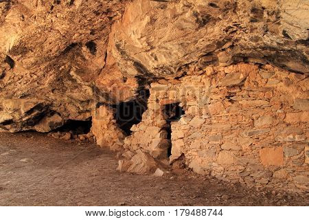 Lower Scorpion Campground Ruins, Gila Cliff Dwellings National Monument in the Gila Wilderness, New Mexico