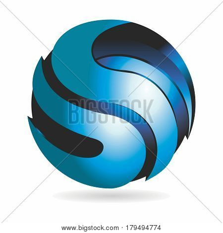 Letter S Logo Sphere Abstract Business Technology Infinity loop design vector