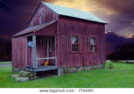Little Old House At Sunset