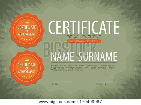 Blank Certified Border Template Vector Illustration. EPS 10