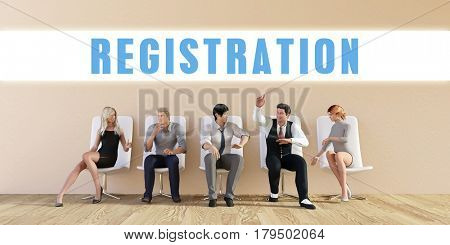 Business Registration Being Discussed in a Group Meeting 3D Illustration Render