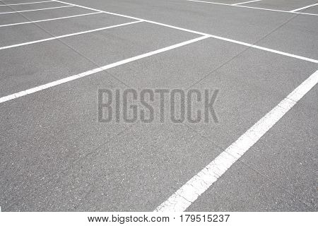 Empty space at outdoor car parking lot