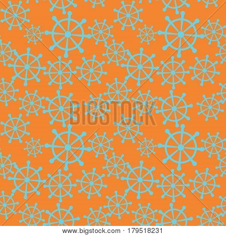 Seamless pattern with blue handwheels. Vector illustration