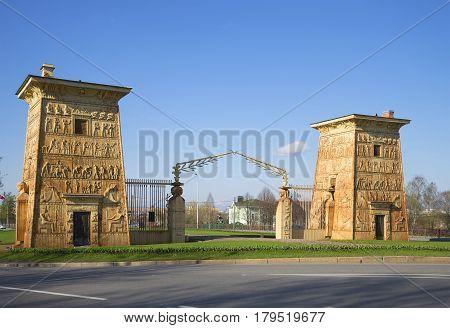 Egyptian gates at Tsarskoye Selo. St. Petersburg