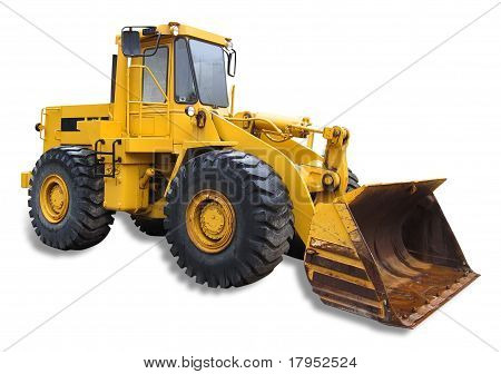 Front end loader, isolated