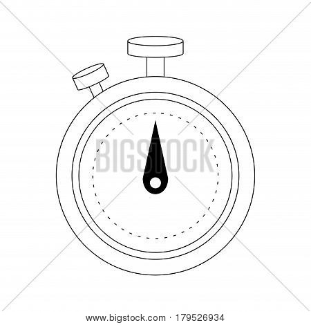 chronometer icon over white background. vector illustration