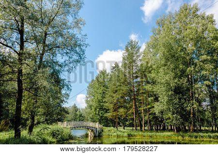 Openwork bridge in the Gatchina Palace Park