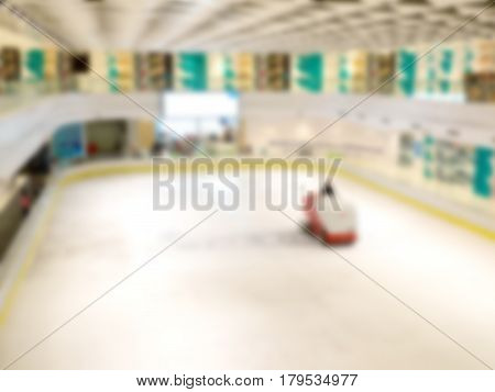 Blurred cleaning on the ice rink. Blurred cleaning on the ice rink.