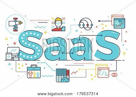 Saas Word Illustration