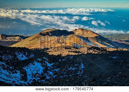 Pico Viejo volcano in the National park El Teide, Tenerife, Canary Islands
