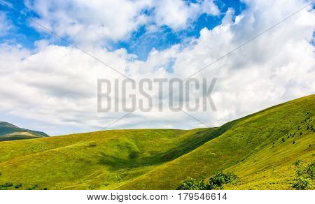 Beautifull Minimalistic Summer Mountain Landscape In Good Weather