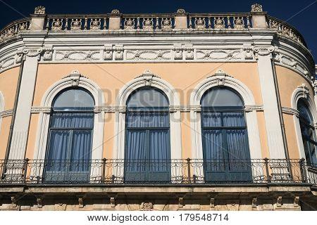 Burgos (Castilla y Leon Spain): exterior of historic palace along the Paseo Espolon
