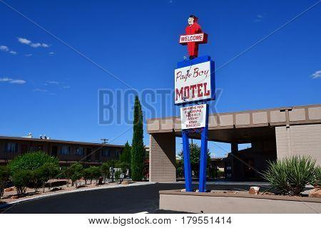 Arizona USA - july 8 2016 : an motel in Page