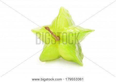 Carambola on a white background. Clipping path
