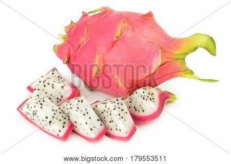 Dragon fruit isolated on a white background with clipping path