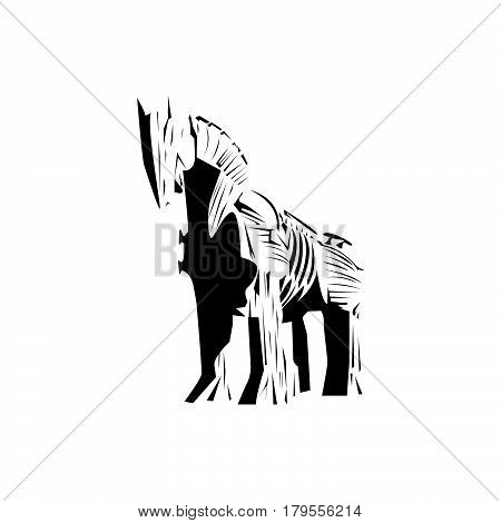 Trojan horse vector , wood horse ,