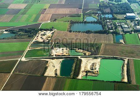 An Industrial Quarry From A Bird's-eye View.