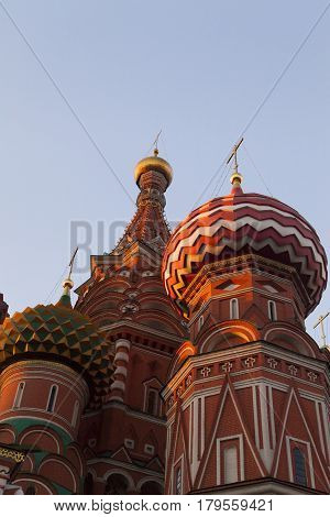 The beautiful orthodox church towers over neighboring buildings