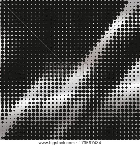 Halftone pattern background texture round spot shapes vintage or retro graphic usable as decorative element.