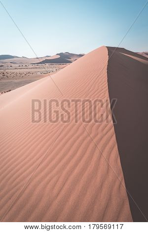 The Scenic Sossusvlei And Deadvlei, Surrounded By Majestic Sand Dunes. Namib Naukluft National Park,