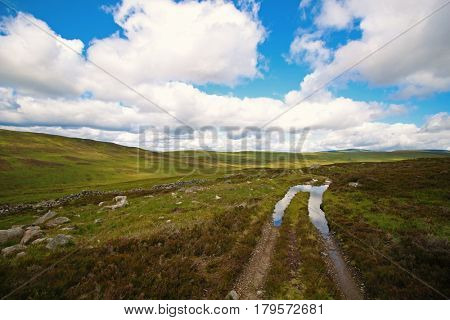 Road in the valley, Perthshire, Scottish Highlands