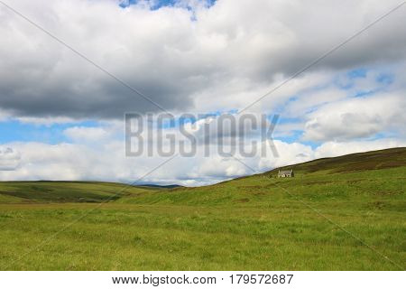 House in the valley, Perthshire, Scottish Highlands