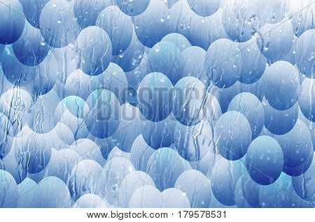 Blue eggs - abstract background - illustration