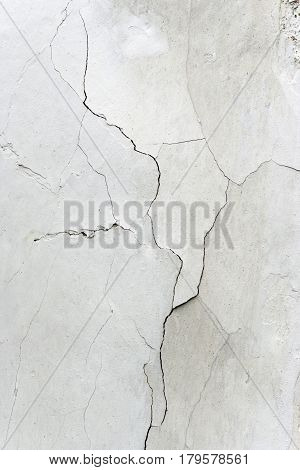 Detail of the Cracks In Plaster - Grunge Texture