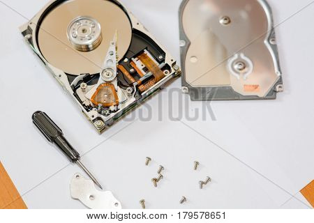 To Disassemble A Hard Drive.