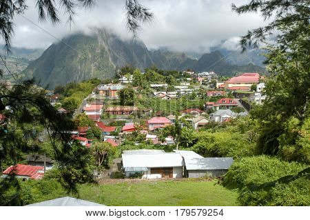 Hell Bourg On The Mountains Of La Reunion Island