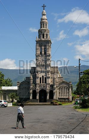 The Church Of St. Anne On La Reunion Island