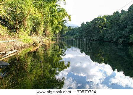 River Of Roches On Reunion Island