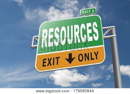 Resources for human and or natural resource sign