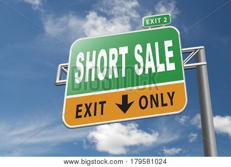 short sale and reduced prices sales available