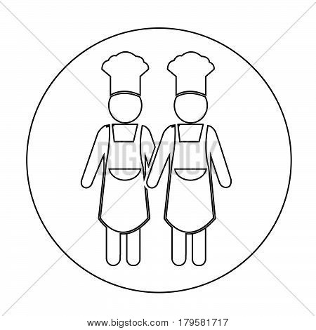 an images of Or pictogram Chef people Icon