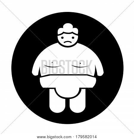 an images of Or pictogram Sumo wrestling People Icon poster