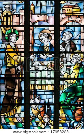 Stained Glass - Jesus At The Last Supper