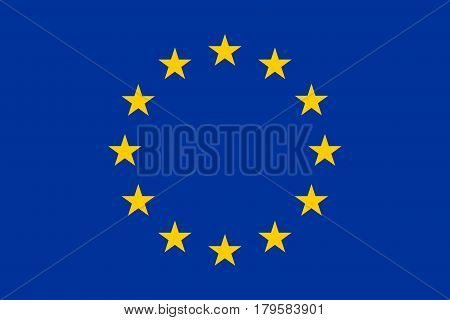 Official European Union flag, correct proportions and colors. Vector illustration