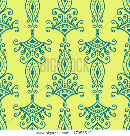 Seamless pattern in oriental style. Vector background. Repetitive pattern in Arabian style in the form of lace.