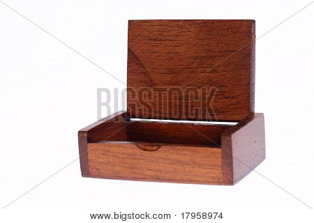 Wood Chest Open