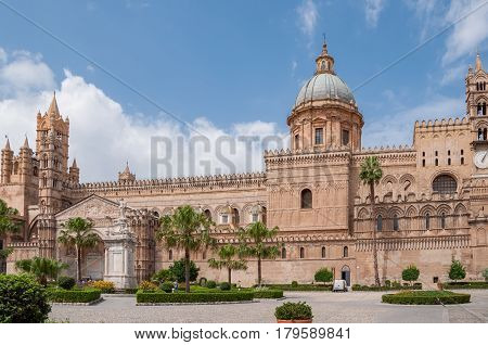 Palermo Cathedral Is The Cathedral Church Of The Roman Catholic, Located In Palermo, Sicily, Italy.