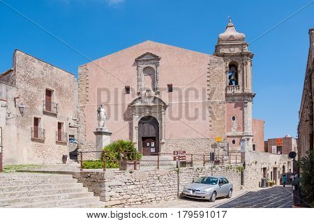 The Church Of San Giuliano, Sicily, Italy