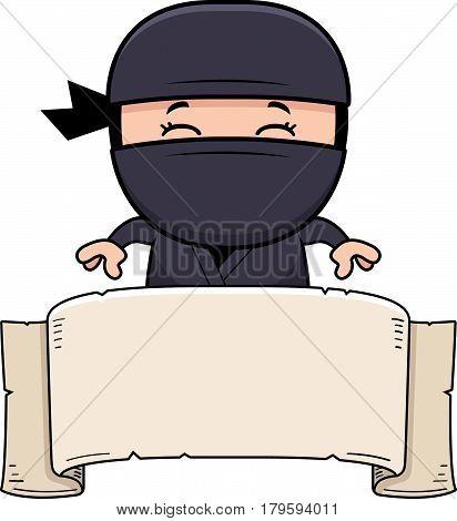 Cartoon Little Ninja Banner