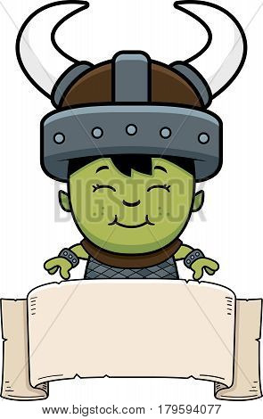Cartoon Orc Child Banner