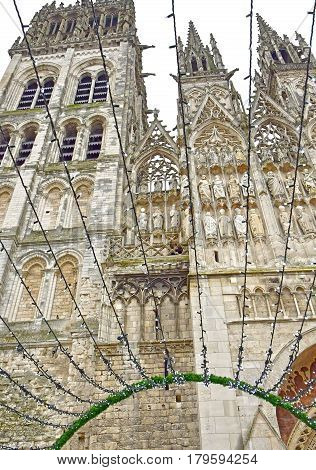 Rouen France - november 26 2016 : the historical cathedral