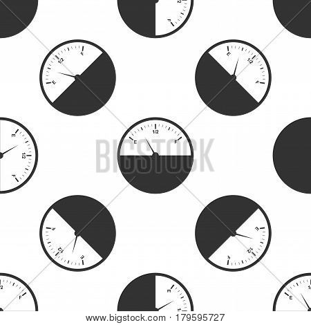 Fuel gauge icon seamless pattern on white background. Vector Illustration
