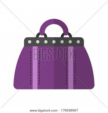 Holdall bag. Flat color icon, illustration of fashion accessory. Vector