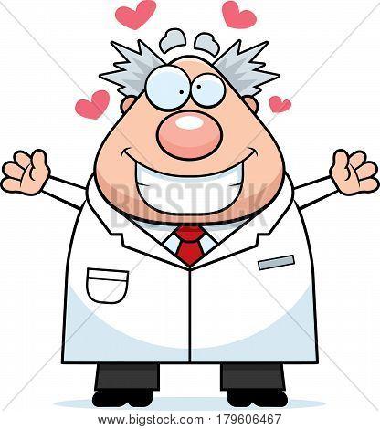Cartoon Mad Scientist Hug